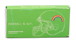 Blue Q Gum Football Is Gay - Перечная мята