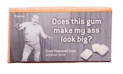 Blue Q Gum Big Ass - Свежие фруктыФруктовые<br>Мы иногда склонны обвинять всех и вся в том, что у нас появилась пара<br>лишних килограммов... Не так ли? Нам кажется, что на этот раз во всем виновата эта маленькая упаковка<br>жевательной резинки с фруктовым вкусом :)<br>