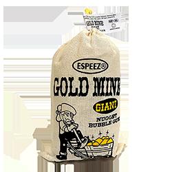GIANT Gold rocks - OriginalФруктовые<br>В Великобритании 24-каратное золото (24K) является чистым, без каких-либо примесей... Принятая в России система проб отличается от британской. Так, 18-каратное золото соответствует 750-й пробе. Золото 999,9-й пробы считается чистым и соответствует британским 24К.  Именно такой пробы оно и бывает в слитках. В Америке же самое лучшее золото - это Gold rocks :)<br>Попробуйте золотой баблгам, который теперь  представлен и на нашем сайте!<br>Этот пакет жвачки - настоящий гигант (его вес: 250 гр., а высота мешка - 12,5 см.)<br>