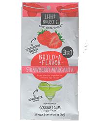 Project 7 Strawberry Margarita - Клубничная маргаритаФруктовые<br>Компания Project 7 была основана успешным предпринимателем и бизнесменом Тайлером Мерриксом, который решил строить бизнес, помогая изменять жизнь людей к лучшему каждый день. Так родился слоган компании: Продукты для всего хорошего! Ниже изложена философия компании: Если люди будут покупать вещи, много вещей, то давайте использовать те вещи, которые они покупают, чтобы помочь изменить мир вокруг нас. Давайте сделаем повседневные продукты для обычных людей такими, чтобы они помогали решать повседневные задачи по всему миру. Часть выручки от продаж товара идет на лечение больных, спасение планеты, помощь бездомным, помощь голодающим и нуждающимся в питьевой воде, помощь неграмотным, поддержку движения за мир во всем мире. <br>Strawberry Margarita - это особая десертная жвачка с двумя разными вкусами: сладкая спелая клубника и лаймово - лимонный фреш. Таким образом, покупая одну пачку, Вы получаете возможность выбора - жевать эти подушечки по отдельности или соединить их, получив необычный десертный вкус.<br>Обращаем Ваше внимание на большой размер пачки. В каждой упаковке находится 24 подушечки!<br>