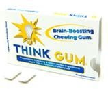 Think Gum - OriginalЭнергетические<br>Think Gum - жвачка способная улучшить память на 25%!<br>Исследования, проведенные журналом Appetite, показали, что<br>студенты, ежедневно жующие Think Gum:  а) лучше усваивают информацию, б) быстрее<br>концентрируются и в) способны дольше работать <br>на лекциях. В состав резинки входят такие компоненты, как: розмарин -<br>лучшая поддержка здоровья клеток головного мозга,  винпоцетин для увеличенния кровотока к  головному мозгу и улучшения памяти, а  также гуарана - натуральный заряд бодрости и<br>источник  кофеина (20 мг в одной жвачке)<br>http://thinkgum.com/research.html.<br>КОНЧАЙ БОЛТАТЬ, НАЧИНАЙ ЖЕВАТЬ! (STOP<br>CHEATING, START CHEWING!)<br>