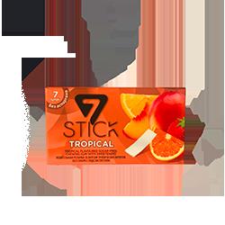 7 STICK Gum - Тропическое ассортиФруктовые<br>Представляем<br>Вам новинку из солнечной Турции - жвачка 7STICK.<br>Как Вы хорошо знаете, мы<br>добавляем в наш ассортимент только качественные и вкусные жвачки! Эта новинка<br>как раз такая!<br>Вся линейка жевательной резинки 7STICK  не содержит сахара и аспартама.<br>Широкая палитра вкусов<br>(виноград, фруктовый микс, апельсин, сладкая мята, перечная мята, арбуз, дыня,<br>банан, корица, клубника)  даст сделать выбор даже самому взыскательному<br>гурману, а сочная консистенция и аромат удивят даже заядлых фанатов жвачки.<br>Откройте для себя новый бренд, наполненный красками и запахами лета!<br>