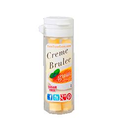 Yum Yum Gum Creme Brulee - Крем-брюлеФруктовые<br>Название бренда переводится с англ., как вкусняшка, объедение,<br>  и такое название было выбрано не зря! Удивительно вкусные, мягкие<br>жевательные резинки  абсолютно точно передают<br>вкусы как любимых и всегда желанных десертов,  так и  экзотических<br>фруктов. Кроме того, эти жвачки не содержат сахара и аспартама, поэтому Вы<br>смело можете покупать их и не бояться за Вашу фигуру! Банановый крем или<br>карамелизированный поп корн, арахисовое масло или шоколадный брауни,<br>глазированный пончик или капкейк - только  Вам решать, чем Вы сегодня себя побалуете!<br>Данная жевательная резинка имеет вкус: Крем-брюле.<br>