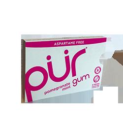 PUR Gum - Гранат и мятаФруктовые<br>Канадский производитель жвачки PUR (название пошло от сокращенного англ. слова pure - чистый) делает не только вкусную жевательную резинку с нетрадиционной линейкой вкусов (шоколад и мята, корица, гранат и мята), и но и максимально старается заботиться о своих клиентах! Вот основные отличительные особенности их продукта:<br>- забота о Ваших зубах - используют только 100 ксилитол. Жвачка не содержит сахара.<br>- при разработке и производстве продукта не использовано никаких ингредиентов животного происхождения<br>- не содержит:пшеницу, пшеничный крахмал,модифицированный крахмал, пшеничный белок, ячмень, рожь.<br>- не содержит ГМО.<br>- не содержит сою.<br>- все ингредиенты для жевательной резинки произведены в Швейцарии<br>