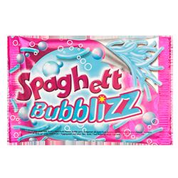Spaghetti Bubblizz Gum - Кислые фруктыФруктовые<br>Детская жевательная резинка, которая напоминает своей формой знаменитые и всеми любимые итальянские спагетти :)<br>Долгоиграющий вкус кислых фруктов, синий цвет и необычная форма на 100% понравится Вашему ребенку!<br>