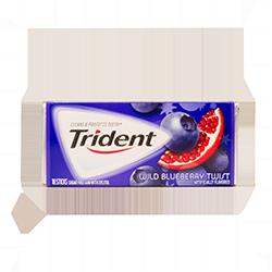 Trident - Спелый гранат и черникаФруктовые<br>Trident - это первая национальная американская жевательная резинка без сахара, который был заменен на ксилит, что резко снизило вероятность заболевания кариесом. Trident - одна из первых жевательных резинок, одобренных стоматологами (на каждой пачке стоит значок ADA (одобрено Американской Зубной Ассоциацией). Благодаря гигантской линейке вкусов, сейчас бренд является одним из самых популярных в США, Великобритании, Канаде, Австралии, Греции, Испании, Мексики, Португалии, Венесуэллы, Марокко, Таиланде, Бразилии, Эквадора, Боливии, Аргентине и Уругвае.  <br>Настоящая нежность и аромат черники!<br>