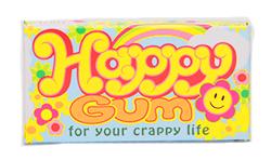 Blue Q Gum Happy - Свежие фруктыФруктовые<br>Сразу<br>хотим отметить, что мы лишь переводим, что написано производителем на этой<br>сумасшедшей жевательной резинке: Счастливая жвачка для Вашей дерьмовой жизни.<br>Простите, но такой юмор у наших заграничных друзей!<br>Фруктовый<br>вкус.<br>